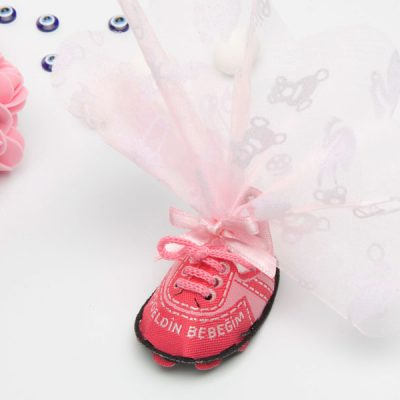 Pembe Ayakkabı Kız Bebek Şekeri