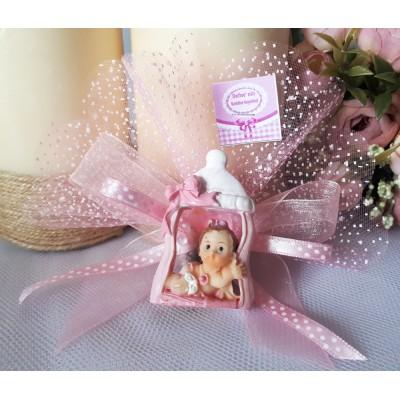 Süslü Biberonlu Kız Bebek Şekeri