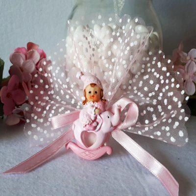 Pembe Biblolu Kız Bebek Şekeri